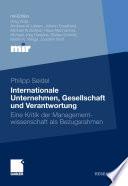 Internationale Unternehmen, Gesellschaft und Verantwortung