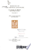 Memoirs of the Empress Josephine Book PDF