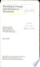 Deciding to Forego Life sustaining Treatment Book PDF