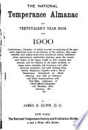 The National Temperance Almanac and Teetotaler s Year Book