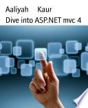 Dive Into Asp Net Mvc 4