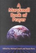 A Maryknoll Book of Prayer