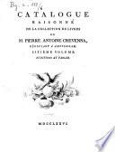 Catalogue raisonn   de la collection de livres de m  Pierre Antoine Crevenna  n  gociant    Amsterdam  Premier   sixi  me  volume