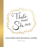 That's What She Said Book