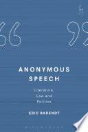 Anonymous Speech