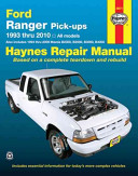 Ford Ranger and Mazda B series Pick ups Automotive Repair Manual