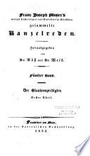 Franz Joseph Moser's ... gesammelte Kanzelreden