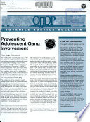 Preventing Adolescent Gang Involvement