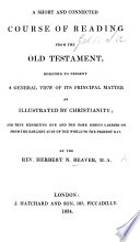 A Short And Connected Course Of Reading From The Old Testament By The Rev Herbert N Beaver