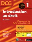 Introduction au droit   2e   dition   DCG     preuve 1   Manuel et Applications