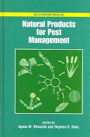 Natural Products for Pest Management