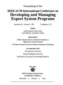 Proceedings of the IEEE ACM International Conference on Developing and Managing Expert System Programs Book PDF