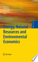 Energy  Natural Resources and Environmental Economics