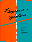 Hispanic Writers Information About Approximately 550 Authors Who Are