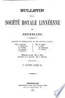 illustration Bulletin de la Société royale linnéenne de Bruxelles