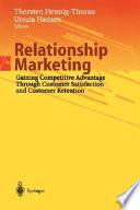 Ebook Relationship Marketing Epub Thorsten Hennig-Thurau Apps Read Mobile