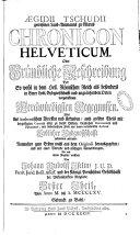 download ebook aegidi tschudii chronicon helveticum oder... pdf epub