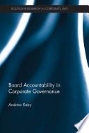 Board Accountability In Corporate Governance