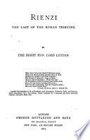 Lord Lytton s Novels  Rienzi