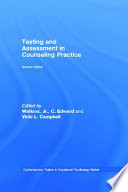 Testing And Assessment In Counseling Practice
