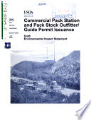 Inyo National Forest N F Commercial Pack Station And Pack Stock Outfitter Guide Permit Issuance