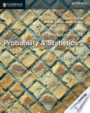 Cambridge International AS and A Level Mathematics  Probability   Statistics 2 Coursebook