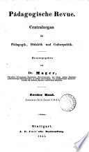 P  dagogische Revue  herausg  von dr  Mager