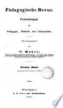 Pädagogische Revue, herausg. von dr. Mager