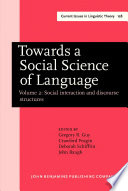 Towards a Social Science of Language