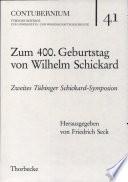 Zum 400. Geburtstag von Wilhelm Schickard