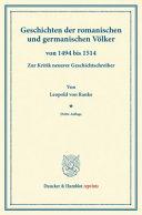Geschichten der romanischen und germanischen Völker