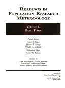 Readings in population research methodology