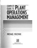 Complete Guide To Plant Operations Management