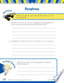Read   Succeed Comprehension Level 4  Paraphrasing Passages and Questions