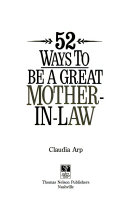 52 Ways To Be A Great Mother In Law