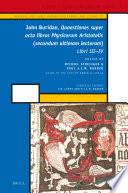 John Buridan  Quaestiones super octo libros Physicorum Aristotelis  secundum ultimam lecturam
