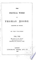 The Poetical Works of Thomas Moore  The lovers of the angles  Miscellaneous poems  Satirical and humorous poems Book PDF