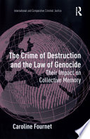 The Crime of Destruction and the Law of Genocide