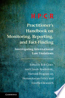 HPCR Practitioner's Handbook on Monitoring, Reporting, and Fact-Finding