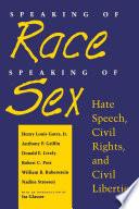 Speaking of Race  Speaking of Sex