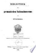 Bibliothek des Germanischen Nationalmuseums zu Nürnberg