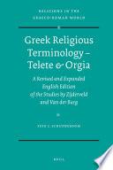 Greek Religious Terminology