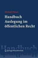 Handbuch Auslegung im öffentlichen Recht