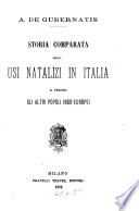 Storia comparata degli usi natalizi in Italia e presso gli altri popoli indo-europei