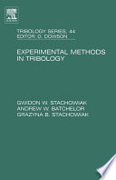 Experimental Methods In Tribology book