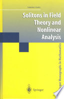 Solitons in Field Theory and Nonlinear Analysis