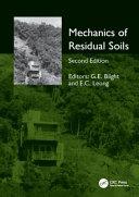 Mechanics Of Residual Soils Second Edition
