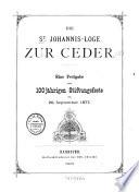 Die St. Johannis-Loge zur Ceder