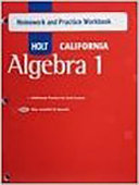 Algebra 1  Grade 8 Homework and Practice Workbook