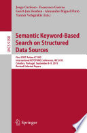 Semantic Keyword based Search on Structured Data Sources